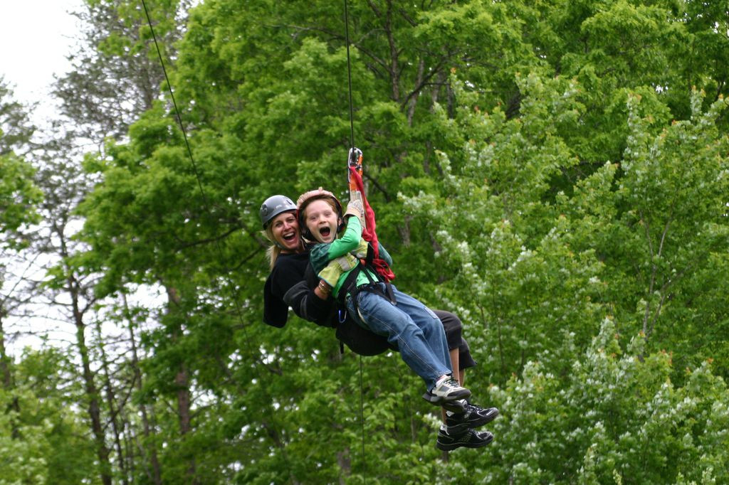 Photo of ziplining fun at Hanging Rock NC