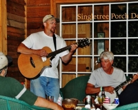 Kirk playing the guitar at Singletree Inn and Cabins - Hanging Rock