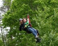 Photo of ziplining fun at Hanging Rock NC